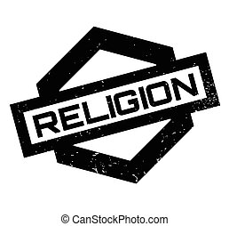 Religion rubber stamp. Grunge design with dust scratches....
