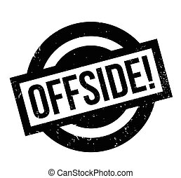 Offside rubber stamp. Grunge design with dust scratches....