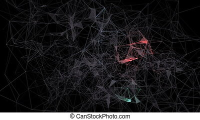 Big data solution.Abstract plexus background for different...