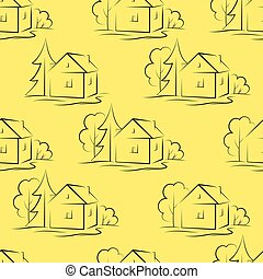Seamless Background, Houses