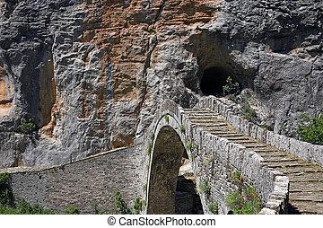 kokkori stone bridge  Zagoria Epirus Greece