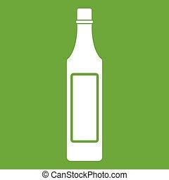 Vinegar bottle icon green - Vinegar bottle icon white...