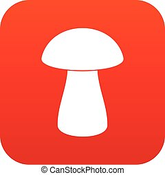 Fungus boletus icon digital red for any design isolated on...