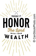 onor the Lord with your Wealth - Christian Vector Biblical...