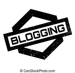Blogging rubber stamp. Grunge design with dust scratches....