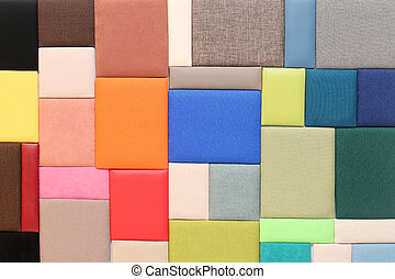 Upholstery materials samples