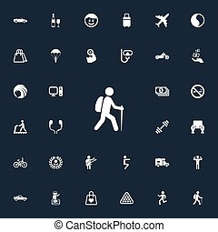 Vector Illustration Set Of Simple Yoga Icons. Elements...