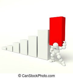 business graph - busines graph on a white background