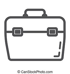 Toolbox line icon, build and repair, toolkit sign vector graphics, a linear pattern on a white background, eps 10.
