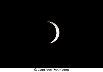 partial soalr eclipse over south carolina usa