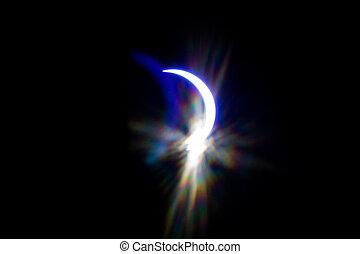 partial solar eclipse over south carolina usa