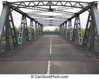 Old bridge over the ship canal Teltowkanal - The abandoned...