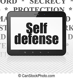 Security concept: Tablet Computer with Self Defense on...
