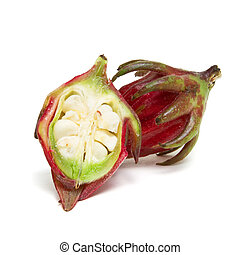 Rosella Bud from the Hibiscus family used in asian cooking...
