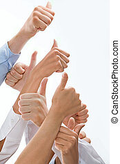 Sign of okay - Photo of hands showing sign of okay placed...