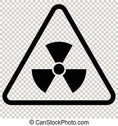 符號, 輻射, 徵候。, 危險, 被隔离