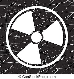 Vector nuclear sign representing the danger of radiation