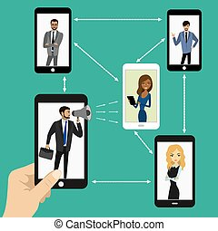 Global business using mobile technology