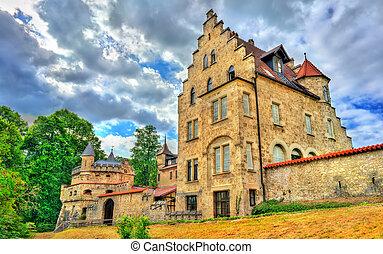 View of Lichtenstein Castle in Baden-Wurttemberg, Germany -...