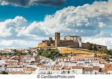 cumbre, castillo, arraiolos., medieval
