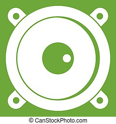Audio speaker icon green - Audio speaker icon white isolated...