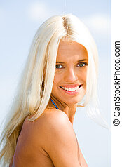 Wonderful model - Photo of wonderful model with blonde hair...