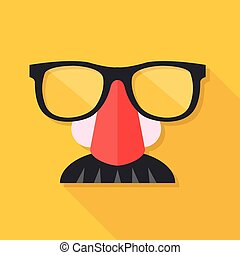 Disguise mask. Mask with glasses fake nose and mustache....