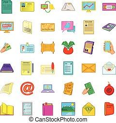 Folder icons set, cartoon style - Folder icons set. Cartoon...