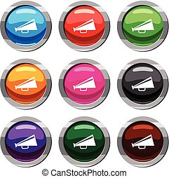 Mouthpiece set 9 collection - Mouthpiece set icon isolated...