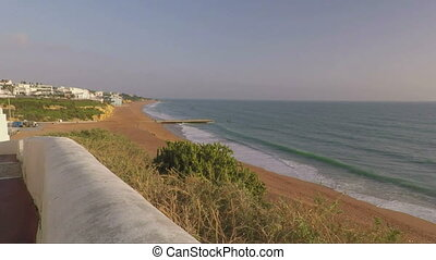 Descent from old town to the beach of Albufeira. - Descent...