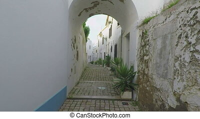 Passage through the tunnel, on the streets of city of...