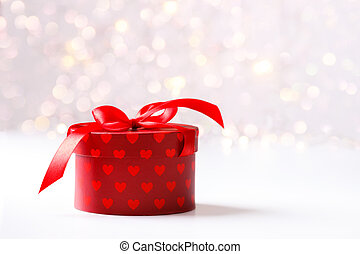 Festive holiday background - Holiday background, red gift...