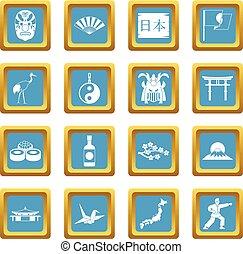 Japan icons azure