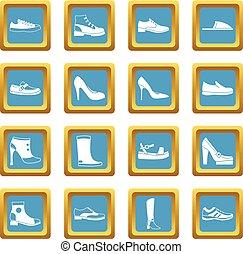 Shoe icons azure