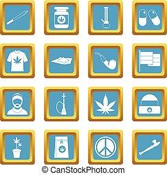 hemelsblauw, rastafarian, iconen