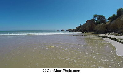 Wonderful view of beach Olhos de Agua, Albufeira. Portugal