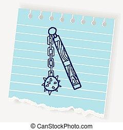 iron mace doodle