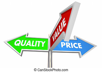 Quality Price Value 3 Way Signs Best Choices 3d Illustration