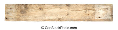 Old worn out wooden board isolated on white