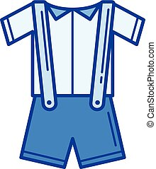 Baby clothes line icon.