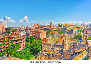View from the Roman Forum and Palatine Hill(Collina del...
