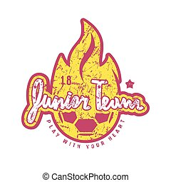 Emblem of soccer junior team