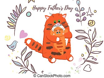 Holiday greetings illustration Father's Day. Vector...