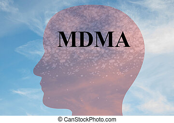 MDMA - narcotic concept - Render illustration of 'MDMA'...