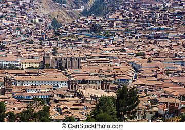 Cusco - Beautiful famous Cusco city in Peru.
