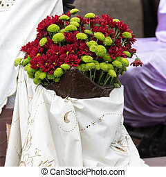 Decorations with flowers during Madeira Wine Festival -...