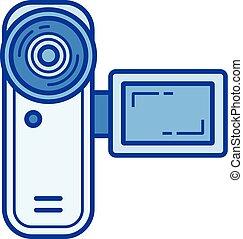 Digital videocamera line icon. - Digital videocamera vector...