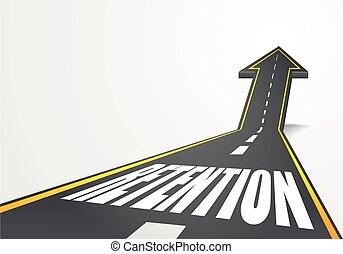 road to Retention - detailed illustration of a highway road...