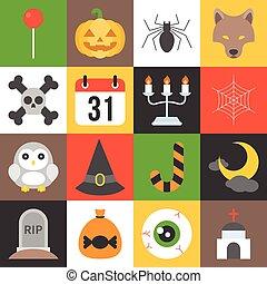 halloween icon set 2