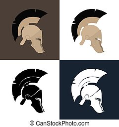Color and Silhouette Roman Helmet - Set of Four Kind...